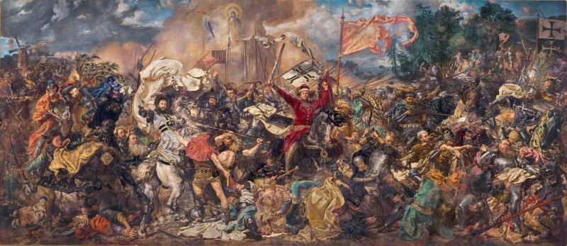 Bătălia de la Grunwald (15 iulie 1410) - Parte a Războiului Polono-Lituaniano-Teutonic - Pictură de Jan Matejko - foto preluat de pe ro.wikipedia.org