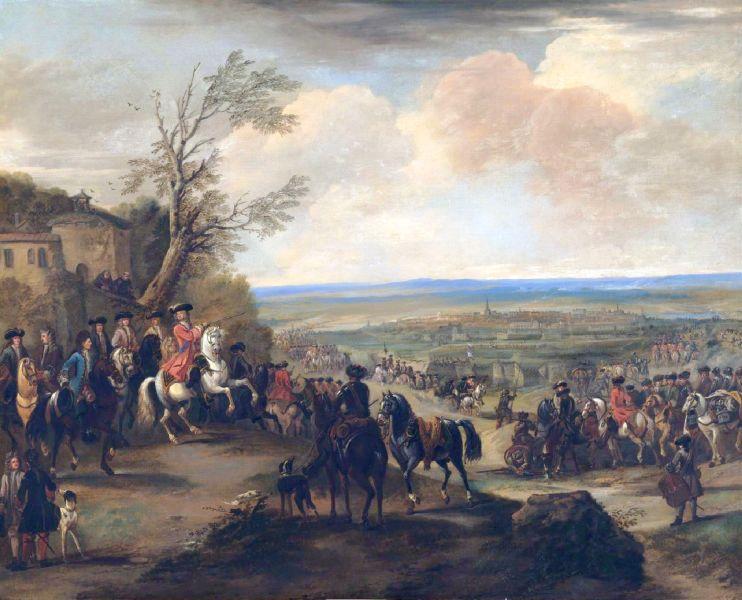 Bătălia de la Oudenaarde (11 iulie 1708), parte a Războiului Succesiunii Spaniole (1701–1714) - Ducele de Marlborough în Bătălia de la Oudenaarde de John Wootton - foto preluat de pe ro.wikipedia.org