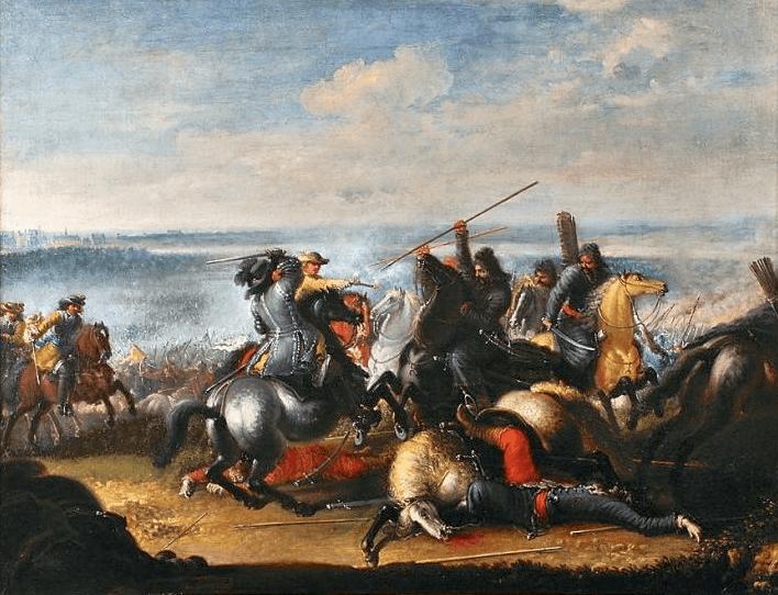 Bătălia de la Varșovia (28-30 iulie 1656) - Swedish king Charles X Gustav in skirmish with Polish Tartars near Warsaw 1656 - foto preluat de pe en.wikipedia.org