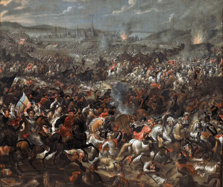 Bătălia de la Viena 1683 - Battle of Vienna, painting by Pauwel Casteels - foto preluat de pe en.wikipedia.org