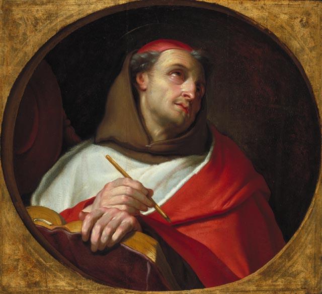 Sfântul Bonaventura (Giovanni Fidanza) (n. 1218, Bagnoregio, Toscana, Italia, d. 15 iulie 1274, Lyon, Franţa) a fost cardinal, filozof, teolog, învăţător (doctor) al Bisericii, sfânt -  foto preluat de pe ro.wikipedia.org