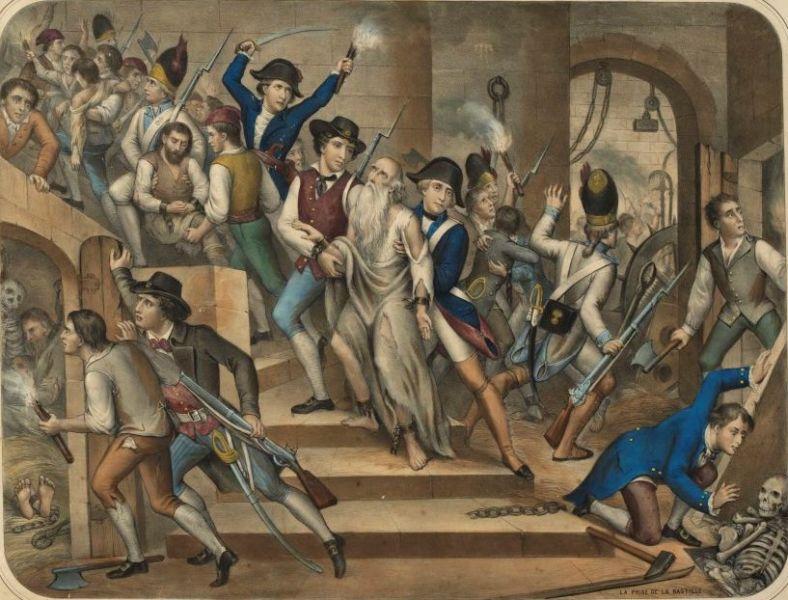 People in the Castle of Bastille, (Musée de la Révolution française) - foto preluat de pe en.wikipedia.org