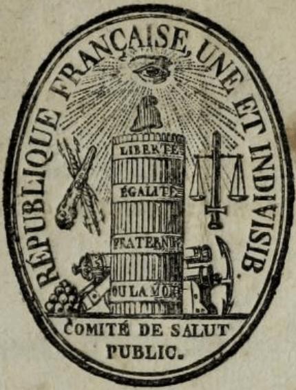 Emblema Comitetul Salvării Publice (1793-1795)- foto preluat de pe en.wikipedia.org