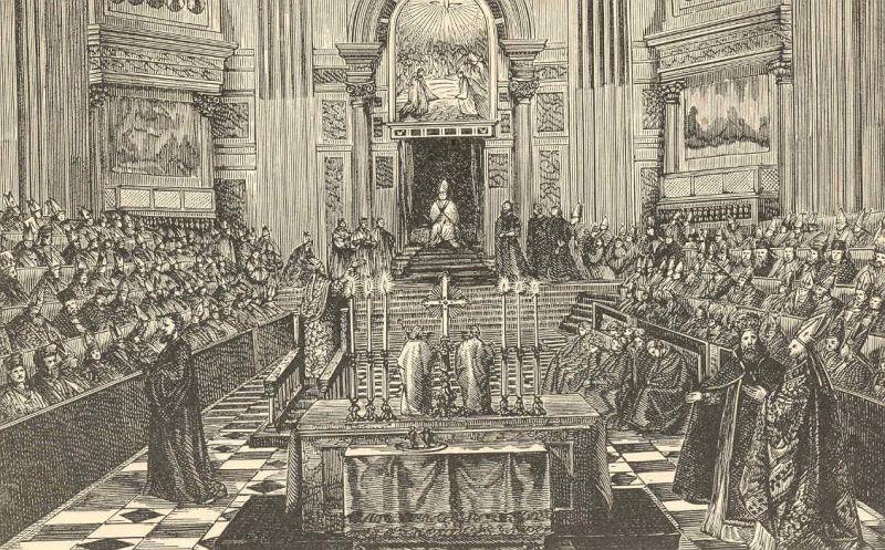 Conciliul Vatican I prezidat de Pius al IX-lea - foto preluat de pe ro.wikipedia.org
