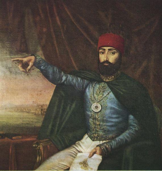 Mahmud al II-lea (n. 20 iulie 1785 – d. 1 iulie 1839) a domnit ca sultan al Imperiului Otoman din 1808 şi până la moartea sa în 1839 - foto preluat de pe ro.wikipedia.org
