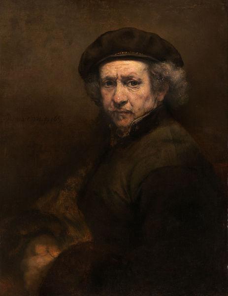 Rembrandt Harmenszoon van Rijn (n. 15 iulie 1606, Leiden – d. 4 octombrie 1669, Amsterdam) a fost un pictor și gravor olandez din secolul al XVII-lea, considerat unul din cei mai mari pictori din istoria artei, celebru și pentru desenele și gravurile sale - Self-Portrait with Beret and Turned-Up Collar (1659), National Gallery of Art, Washington, D.C. - foto preluat de pe en.wikipedia.org