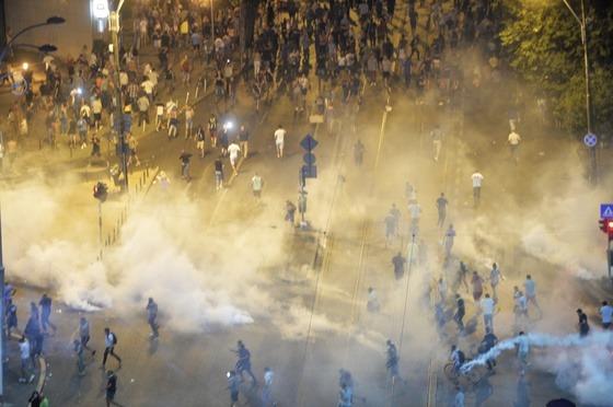 BUCURESTI - PIATA VICTORIEI - PROTEST - DIASPORA (10 august 2018) - Foto: Andreea Alexandru, Mediafax