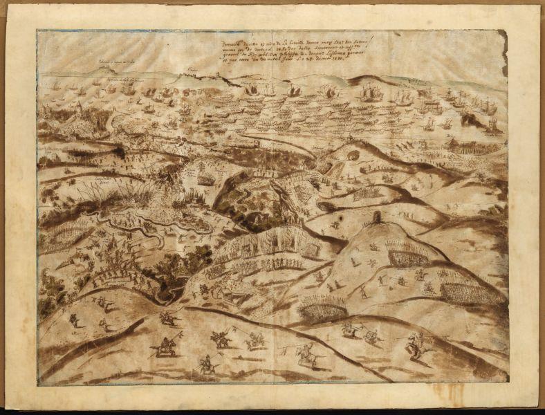 Battle of Alcântara (25 August 1580) - Part of the War of the Portuguese Succession - Engraving of the Battle of Alcântara (1580) - foto preluat de pe en.wikipedia.org