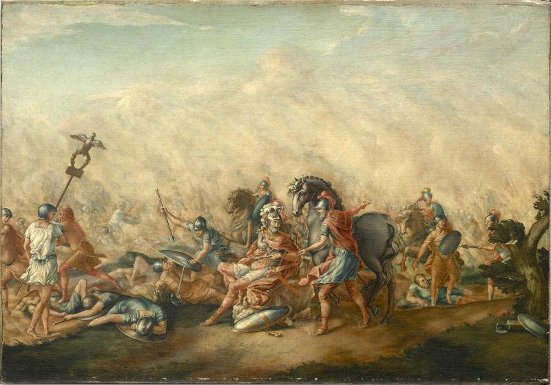 Bătălia de la Cannae, (2 august, 216 î.Hr.) - Moartea lui Aemilius Paulus - foto preluat de pe ro.wikipedia.org