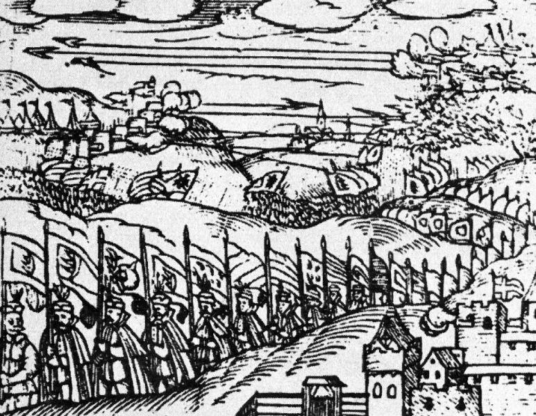 Bătălia de la Guruslău (3 august 1601) - Parte a Războiului cel Lung - Mihai Viteazul şi generalul Basta învingând nobilimea maghiară din Transilvania - foto preluat de pe ro.wikipedia.org