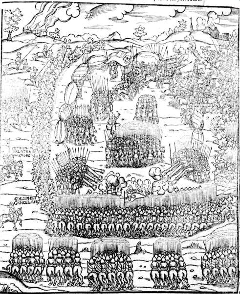 Bătălia de la Obertyn (22 august 1531) - Modovian army Polski Kronika from 1564 - foto preluat de pe ro.wikipedia.org