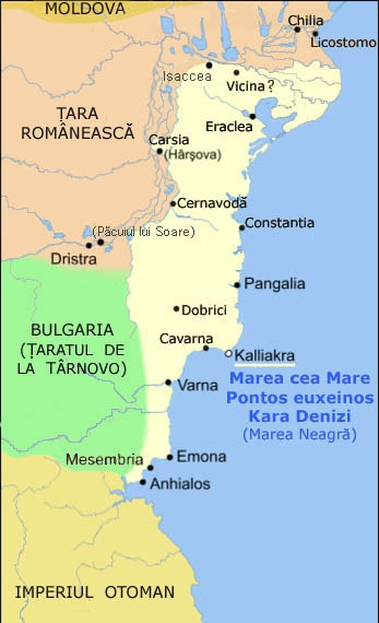Despotatul dobrogean în 1370 - foto preluat de pe ro.wikipedia.org