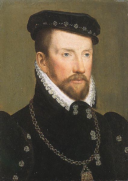 Amiralul Gaspard de Coligny, pictură de François Clouet - foto preluat de pe ro.wikipedia.org