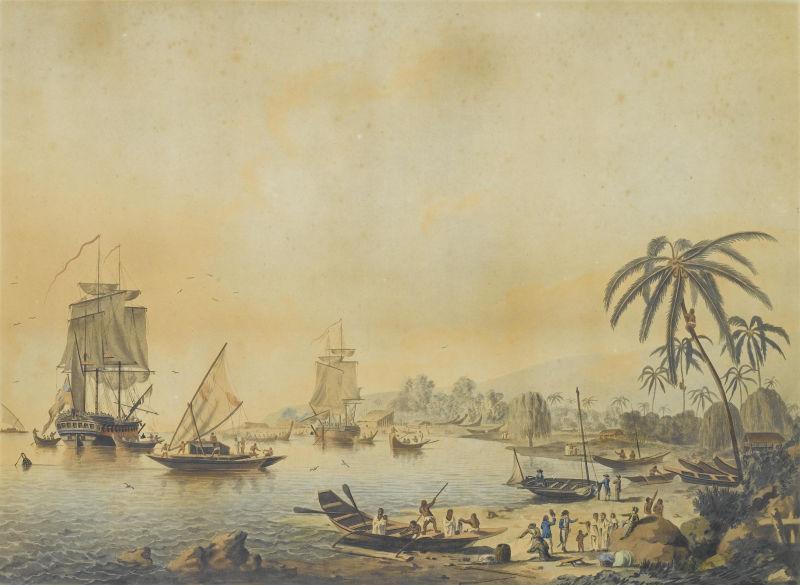 HMS Resolution and Discovery in Tahiti - foto preluat de pe en.wikipedia.org