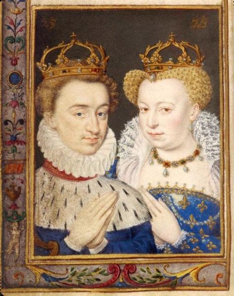 Margareta de Valois şi Henric de Navara. Căsătoria lor a fost numită nunta purpurie - foto preluat de pe ro.wikipedia.org