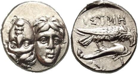 Monede bătute la Histria - foto preluat de pe ro.wikipedia.org