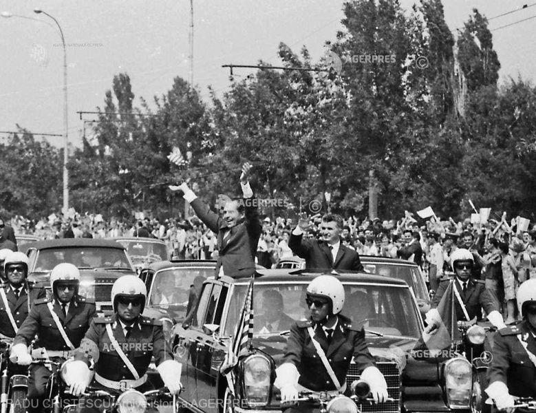 Vizita oficială în România a preşedintelui SUA Richard Nixon (2-3 august 1969) - foto preluat de pe www.agerpres.ro