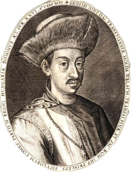 Sigismund Báthory (în maghiară Báthory Zsigmond) (n. 1572  sau 1573 - d. 27 martie 1613, Praga), principe al Ardealului, fiul lui Cristofor Báthory şi al Elisabetei Bocskai. A realizat prima unire a Transilvaniei cu Ţara Românească şi cu Moldova, aşa numitul plan dacic. A fost ales ca minor principe al Transilvaniei în mai 1581 de către Dieta Transilvaniei de la Cluj. Acest drept l-a exercitat doar din 1588, când principele de 15 ani a fost majorat de către Dieta de la Mediaş. La aceeaşi Dietă Naţională, Cristofor Báthory i-a expulzat pe iezuiţi din Ardeal - foto preluat de pe ro.wikipedia.org