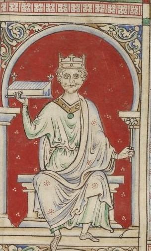 """William al II-lea """"Rufus"""" (c. 1056 – 2 august 1100), a fost rege al Angliei în perioada 1087 - 1100, al treilea fiu al Regelui William I al Angliei (William Cuceritorul), exercitându-şi puterea asupra Ducelui Normandiei şi având destulă influenţă în Regatul Scoţiei - William II drawn by Matthew Paris - foto preluat de pe en.wikipedia.org"""