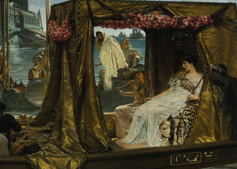 Bătălia de la Actium (2 septembrie 31 î. Hr.) - Antoniu și Cleopatra, de Lawrence Alma-Tadema, (1883) - foto preluat de pe ro.wikipedia.org