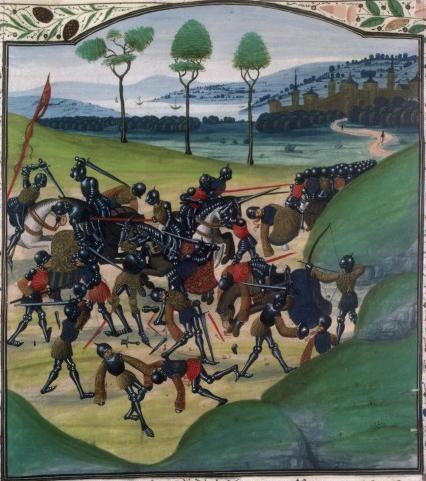 Bătălia de la Poitiers (19 septembrie, 1356) - Parte din Războiului de 100 de Ani) - Miniatură medievală - foto preluat de pe ro.wikipedia.org