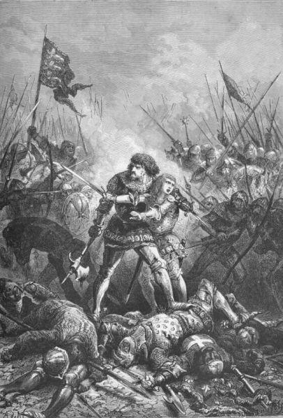 Bătălia de la Poitiers (19 septembrie, 1356) - Parte din Războiului de 100 de Ani) - Capturarea lui Ioan al II-lea - foto preluat de pe ro.wikipedia.org