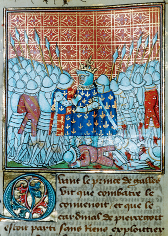 Bătălia de la Poitiers (19 septembrie, 1356) - Jean II, the Good, being captured - foto preluat de pe en.wikipedia.org