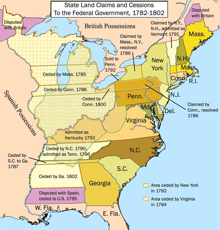 Harta Statelor Unite și teritoriilor după Tratatul de la Paris (3 septembrie 1783) - foto preluat de pe en.wikipedia.org