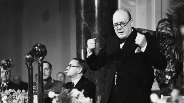 Winston Churchill la Universitatea din Zürich (19 septembrie 1946) - foto preluat de pe www.ft.com