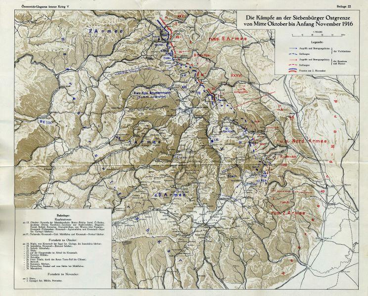 A doua bătălie de la Oituz  (28 octombrie/10 noiembrie - 2/15 noiembrie 1916) - Parte din Participarea României la Primul Război Mondial - Desfășurarea acțiunilor militare - foto preluat de pe ro.wikipedia.org