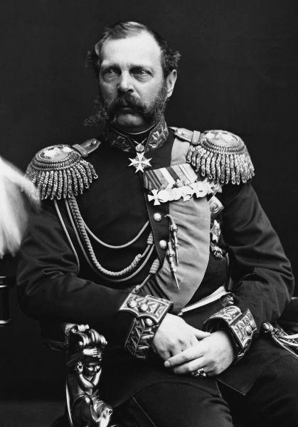 Alexandru (Aleksandr) al II-lea Nicolaevici (n. 29 aprilie 1818, Moscova – d. 13 martie 1881, Sankt Petersburg), fiul lui Nicolae I al Rusiei, a fost Țarul (Împăratul) Rusiei de la 2 martie 1855 și până la asasinarea sa în 1881. De asemenea, a fost și Mare Duce al Finlandei și a revendicat titlul de rege al Poloniei - foto preluat de pe en.wikipedia.org