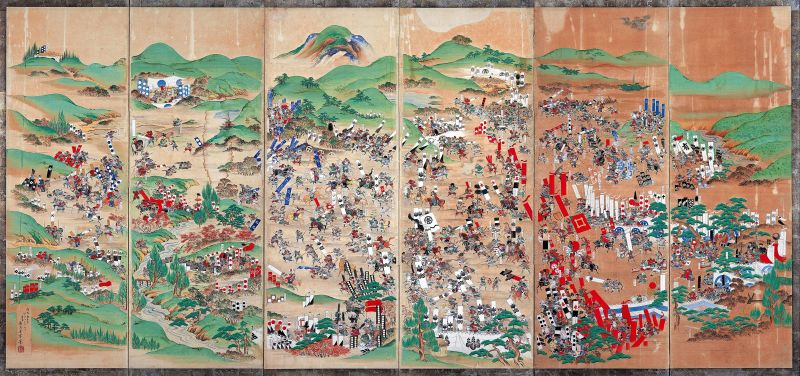 Pictura din perioada Edo de luptă - foto preluat de pe ro.wikipedia.org