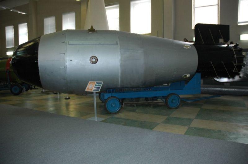 Bomba țarului - machetă aflată în prezent la Muzeul armelor nucleare rusești din Sarov - foto preluat de pe ro.wikipedia.org