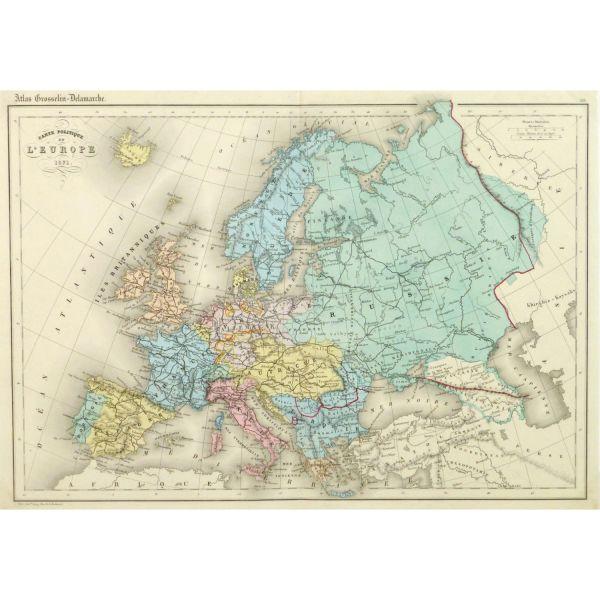 Harta Europei in 1873 - foto preluat de pe www.client-aviddesigngroup.com