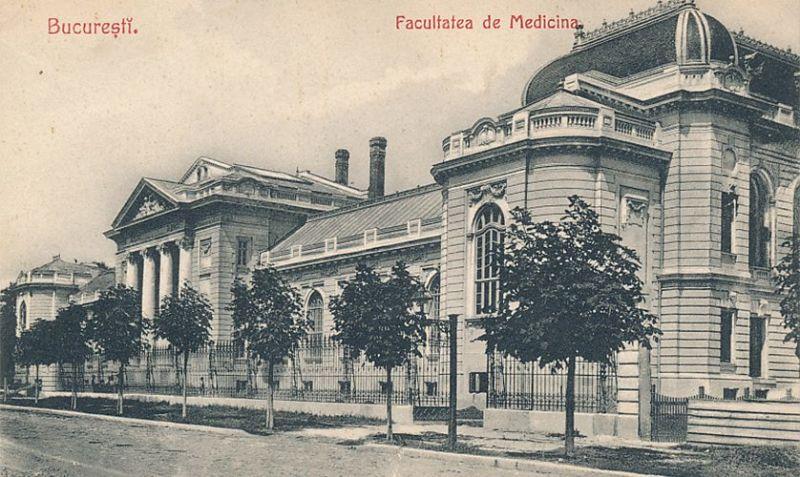 Palatul Facultății de Medicină din București, carte postala din anul 1910 - foto preluat de pe www.cotroceni1900.ro