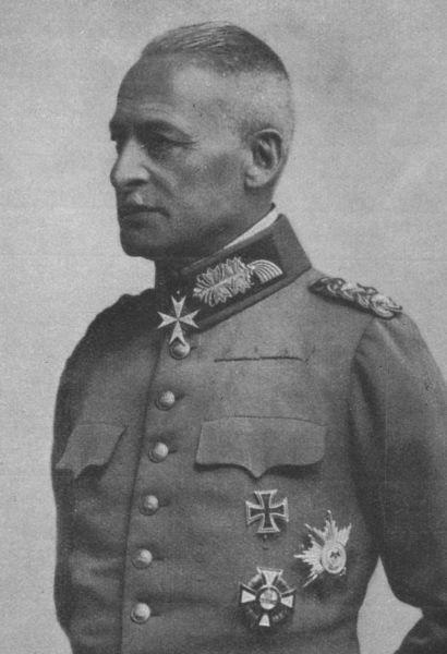 Friedrich von Gerok (n. 26 mai 1854, Stuttgart – d. 18 septembrie 1937, Stuttgart) a fost unul dintre generalii armatei Germaniei (Regatul Württemberg) din Primul Război Mondial. A îndeplinit funcțiile de comandant al Diviziei 26 Infanterie, Diviziei 54 Rezervă și Corpului XXIV Rezervă. A îndeplinit funcția de comandant al Corpului XXIV Rezervă în campania acestuia din România, din anii 1916-1917 - foto preluat de pe ro.wikipedia.org