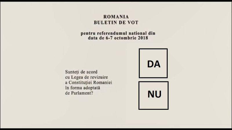 """Referendumul de modificare a articolului 48 din Constituția României, pentru redefinirea familiei prin înlocuirea sintagmei """"între soți"""" din art. 48, alin. (1) al Constituției cu """"între un bărbat și o femeie"""" (6 și 7 octombrie 2018) - foto preluat de pe observator.tv"""