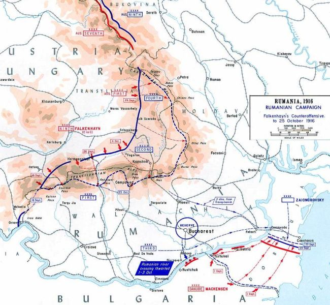 Prima bătălie de pe Valea Jiului (23 - 29 octombrie 1916) - Contraatacul Puterilor Centrale, septembrie-octombrie 1916 - foto preluat de pe ro.wikipedia.org