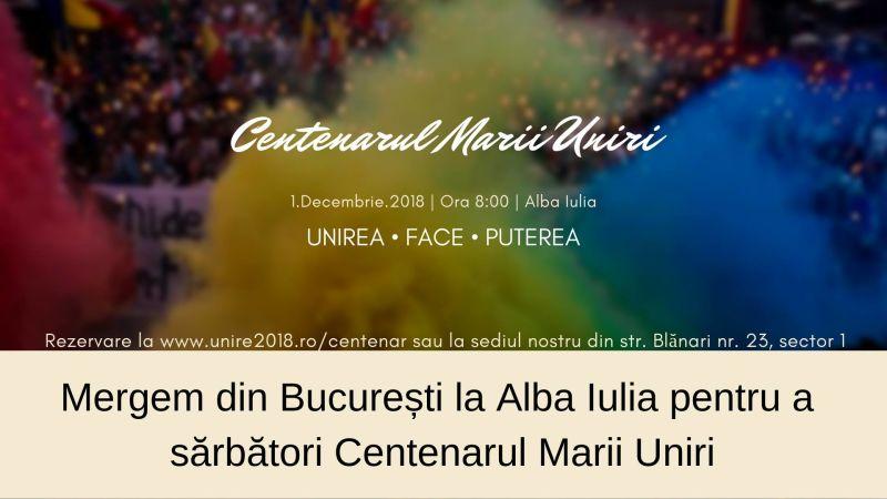 Unioniștii din București Merg la Alba Iulia de 1 Decembrie - foto preluat de pe www.facebook.com