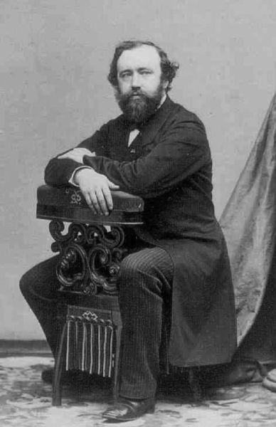 Adolphe Sax, pe numele său Antoine Joseph Sax (n. 6 noiembrie 1814, Dinant, Belgia – d. 4 februarie 1894, Paris, Franța) a fost un inventator belgian, fabricant de instrumente muzicale și muzician; el a inventat saxhornul și în 1846 saxofonul - (Sax in the 1850s) foto preluat de pe en.wikipedia.org