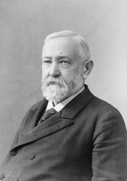 Benjamin Harrison (n. 20 august 1833 - d. 13 martie 1901) a fost cel de-al douăzeci și treilea președinte al Statelor Unite ale Americii, în funcție pentru un singur mandat între 1889 și 1893 - foto preluat de pe en.wikipedia.org