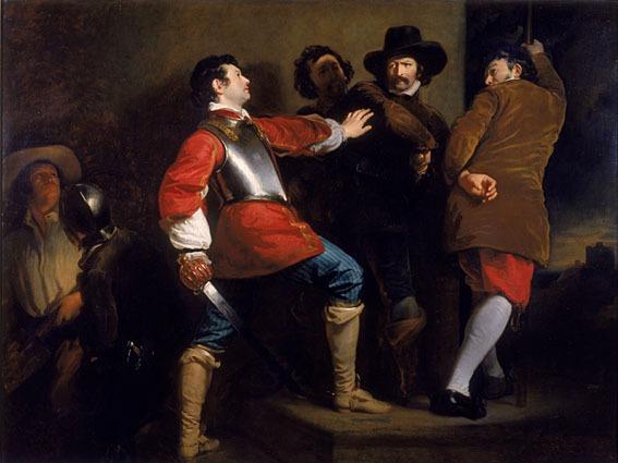 Descoperirea Complotului Prafului de Pușcă și prinderea lui Guy Fawkes (c. 1823) de Henry Perronet Briggs - foto preluat de pe ro.wikipedia.org