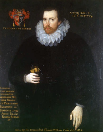 Sir Edward Coke (1 February 1552 – 3 September 1634) was an English barrister, judge, and politician who is considered to be the greatest jurist of the Elizabethan and Jacobean eras - a efectuat interogatoriile celor suspecți de implicare în Complotul prafului de pușcă (5 noiembrie 1605) - foto preluat de pe en.wikipedia.org