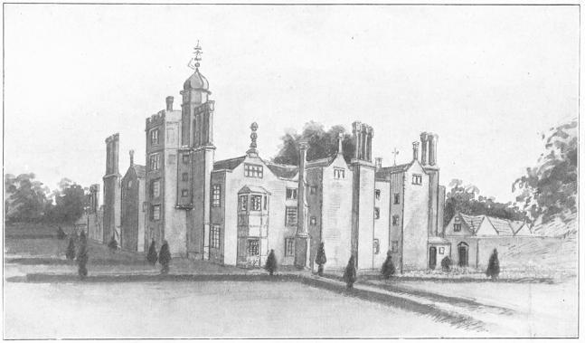 Hindlip Hall din Worcestershire. Clădirea a fost distrusă de un incendiu în anul 1820 - foto preluat de pe ro.wikipedia.org