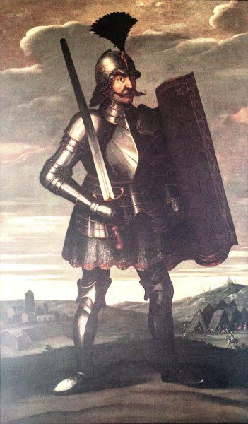 Iancu de Hunedoara (n. ca. 1407 - d. 11 august 1456) a fost ban al Severinului din 1438, voievod al Transilvaniei între 1441-1456 și regent al Ungariei între 1446-1452, mare comandant militar, tatăl regelui Matia Corvin - (Pictura din secolul al XVII-lea) - foto preluat de pe ro.wikipedia.org