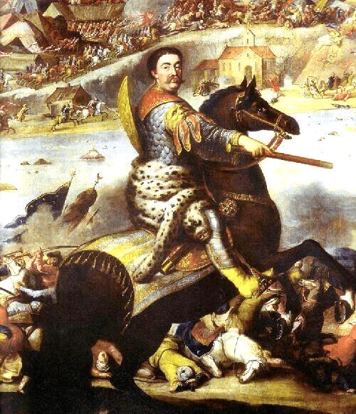Bătălia de la Hotin (11 noiembrie 1673) - parte din Războiul polonez-otoman din 1672–1676 (John Sobieski in battle of Khotyn 1673) - foto preluat de pe en.wikipedia.org