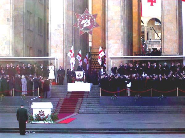 Saakashvili's inauguration as President of Georgia - foto preluat de pe en.wikipedia.org
