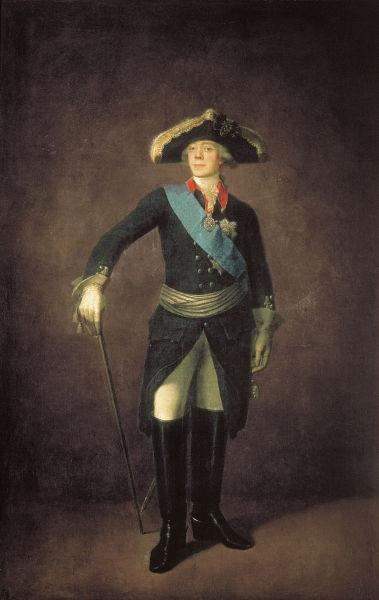 Pavel (1 octombrie (S.V 20 septembrie) 1754 – 23 martie (S.V 11 martie) 1801), împărat al Rusiei în perioada 1796 - 1801 (Portrait of Russian Emperor Paul I  of Russia by Stepan Shchukin) foto preluat de pe commons.wikimedia.org