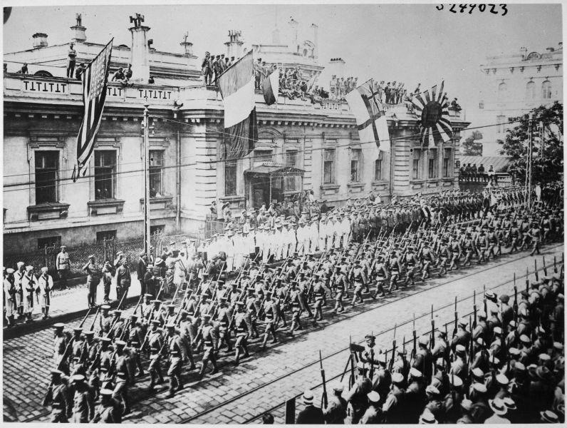 Capturarea Vladivostokului de forțele aliate în 1918 - foto preluat de pe ro.wikipedia.org