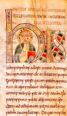 """Augustin (n. primul trimestru al secolului VI — d. 26 mai 604) a fost primul arhiepiscop de Canterbury, și primul primat al Kentului. Este considerat sfânt în Biserica Anglicană, Catolică și Ortodoxă. Inițial a fost abate al abației benedictine Sfântul Andrei din Roma, iar apoi, a fost trimis de către papa Grigore cel Mare să-i convertească pe englezi (care căzuseră din nou în idolatrie) la creștinism (Portrait labelled """"AUGUSTINUS"""" from the mid-8th century Saint Petersburg Bede, though perhaps intended as Gregory the Great) - foto preluat de pe en.wikipedia.org"""